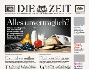 DIE ZEIT, Titel vom 21. November 2013
